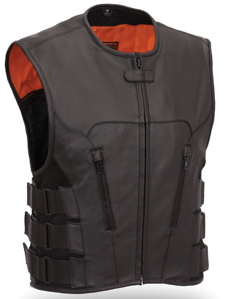 Mens Fashion Leather Vest