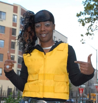 Yellow Polyester Motorcycle Vest