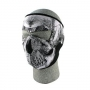 Zan Headgear Full Face Mask, Black & White Skull Face