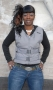Gray Polyester Motorcycle Vest